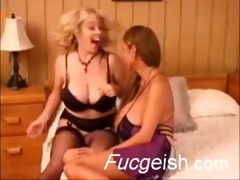 blond and oriental lesbian babes with giant tits