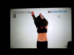 japanese big beautiful woman mama doing exercise