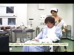 rio virginal chinese nurse enjoys doing tugjob