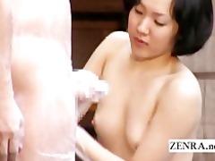japanese cfnm mixed bathing tugjob leads to