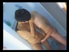 thai pair drilled in the bathroom.