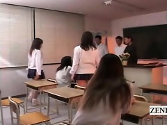 subtitled cfnm bottomless japan students school