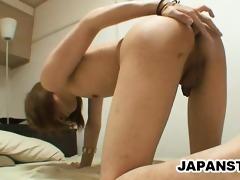 skinny japanese stud teasing his asshole