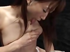 hot japanese chick with billibongs full of milk