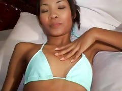 smiling viet cutie can schlong in her face hole
