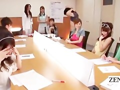subtitled japanese cougars group office cfnm foot