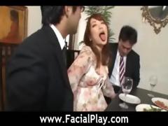 oriental hawt sweethearts facial jizz flow fuck -