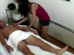 masseuse receives dude sexually excited and hard