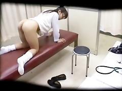schoolgirl drilled by schooldoctor