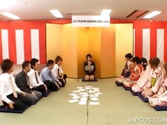 japanese geisha receives face hole fingered
