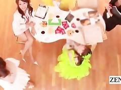 subtitled group cfnm pov blow job at japanese tv