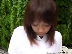 japanese beauty gets a poolside snatch pounding