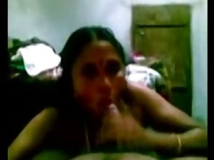 hot indian aunty serve to her partner