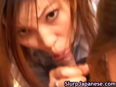 japanese harlots take turns to engulf plump part2