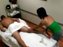 oriental masseuse spoiling a customer
