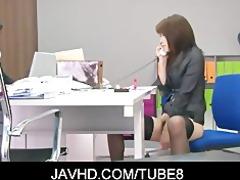 hot japanese cutie hojo maki toying her pussy