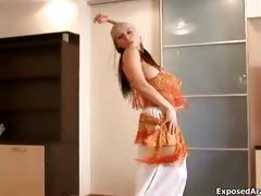 breasty arab floozy receives lascivious stripping