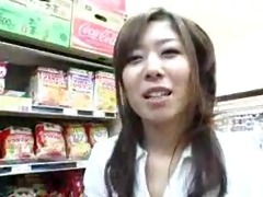 oriental cook jerking irrumation in the grocery