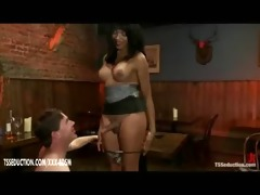 transsexual and her villein gives blowjobs to