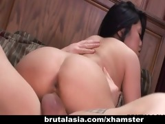 lascivious oriental babe groans during hardcore