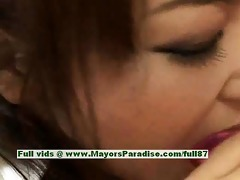 miina hawt hotty nasty chinese gal receives muff