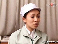 pleasing oriental nurses giving handjob in group