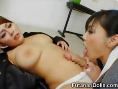 futanari coed receives a blowjob!