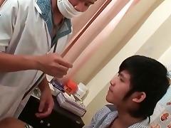 fake penis arse checkup