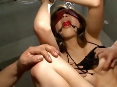 tied and gagged rika aina used by lewd guys
