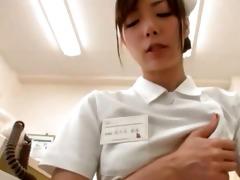 cute japanese nurse likes masturbating part6