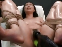 asian made to orgasm with vigour tools