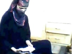 arab cutie praying then masturbating
