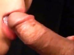 oriental angel giving oral sex cum to throat