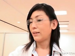 oriental patient cunt opened with speculum at the
