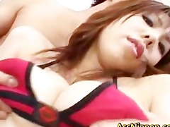 large titted oriental doxy enjoys a hawt sex