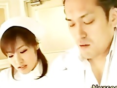 teasing oriental nurse