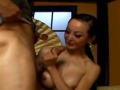 brutal anal sex with busty oriental beauty