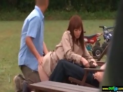 outdoor hardcore sex action with oriental angels