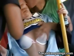 white cheerleader vs japanese perverts!