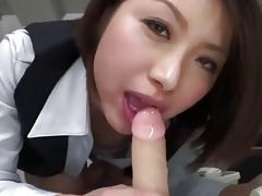japanese sweetheart alone in her workplace