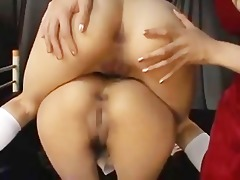 cuties bonks 4 lesbos a-hole with strapon