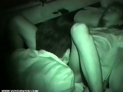 two excited couples sex inside of the car
