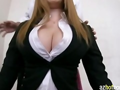 breasty office lady pov hardcore fuck