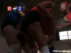 glamorous oriental women plays basketball part7