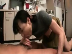 japanese doxy playing with cum from her slit