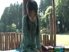 hot oriental girl love to have hard sex outdoor