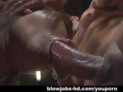 oriental chick gives her boyfriend a blowjob