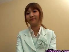 breasty legal age teenager oriental hottie has