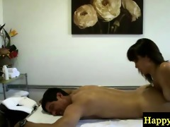 oriental masseur slips all over her client