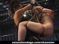 japanese dominatrix copulates her slavegirl with